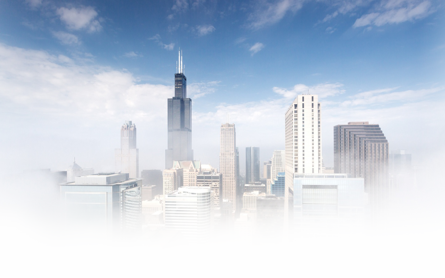 chicago fog wallpaper