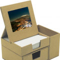 Message Box with Photo Frame and Stationery Holder