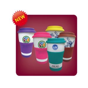 Pro Single Wall Mug with Silicone Lid and Grip