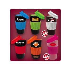 Fruity Single Wall Mug with Silicone Lid Grip