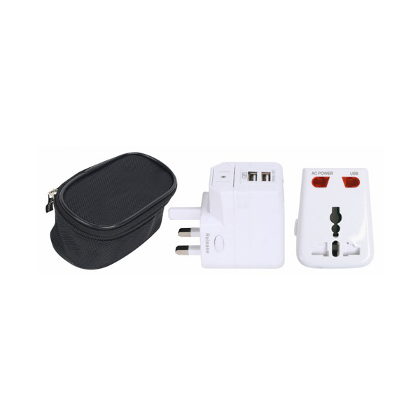 Detachable World Travel Adapter with dual USB port