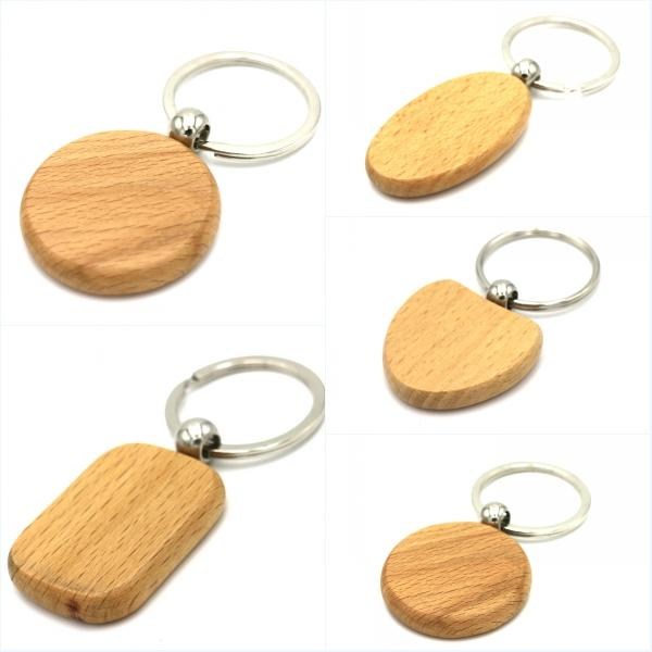 cute customized blank wooden keychains personalized
