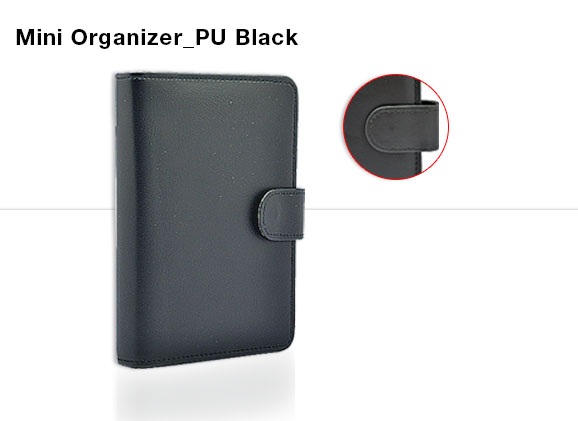 Mini Organizer - PU Black
