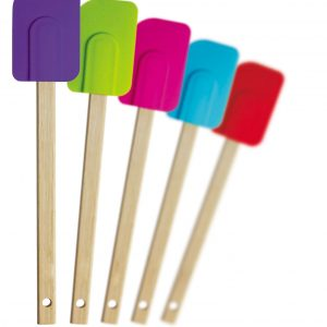 silicone spatula with wooden handle j  p