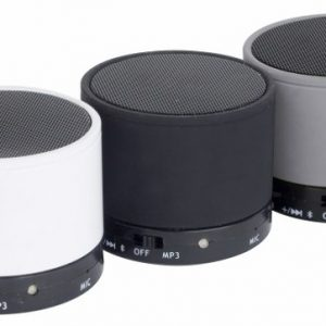 Mini Bluetooth Speaker white black grey